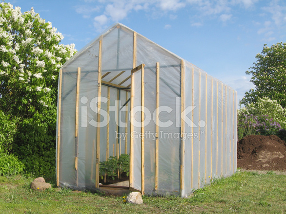Homemade greenhouse stock photos for Homemade greenhouse plastic