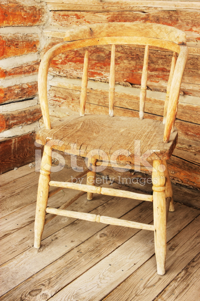 Wood Chair Rustic Log Cabin Porch Stock Photos - FreeImages.com