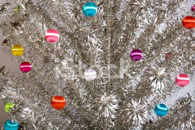 Decorated aluminum christmas tree stock photos freeimages.com