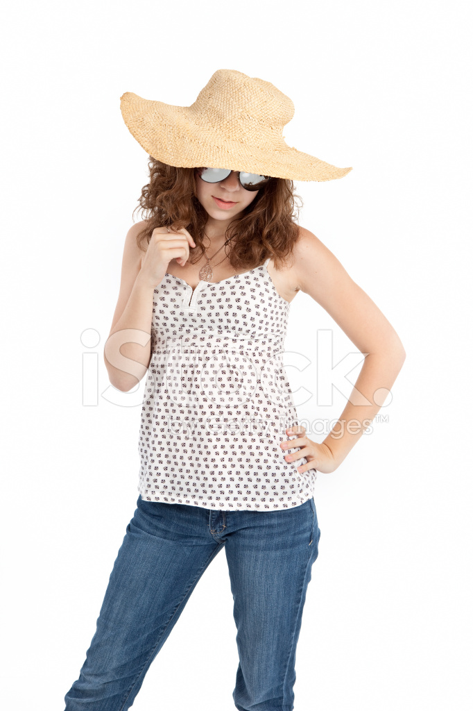 Teen IN Straw Hat Stock Photos - FreeImages.com