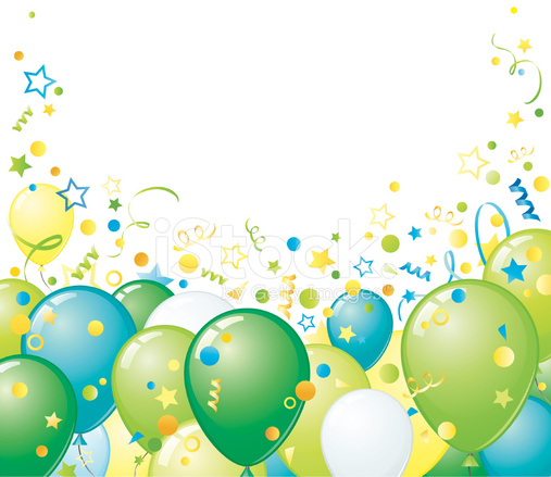 Green Balloons Border Stock Vector Freeimages Com