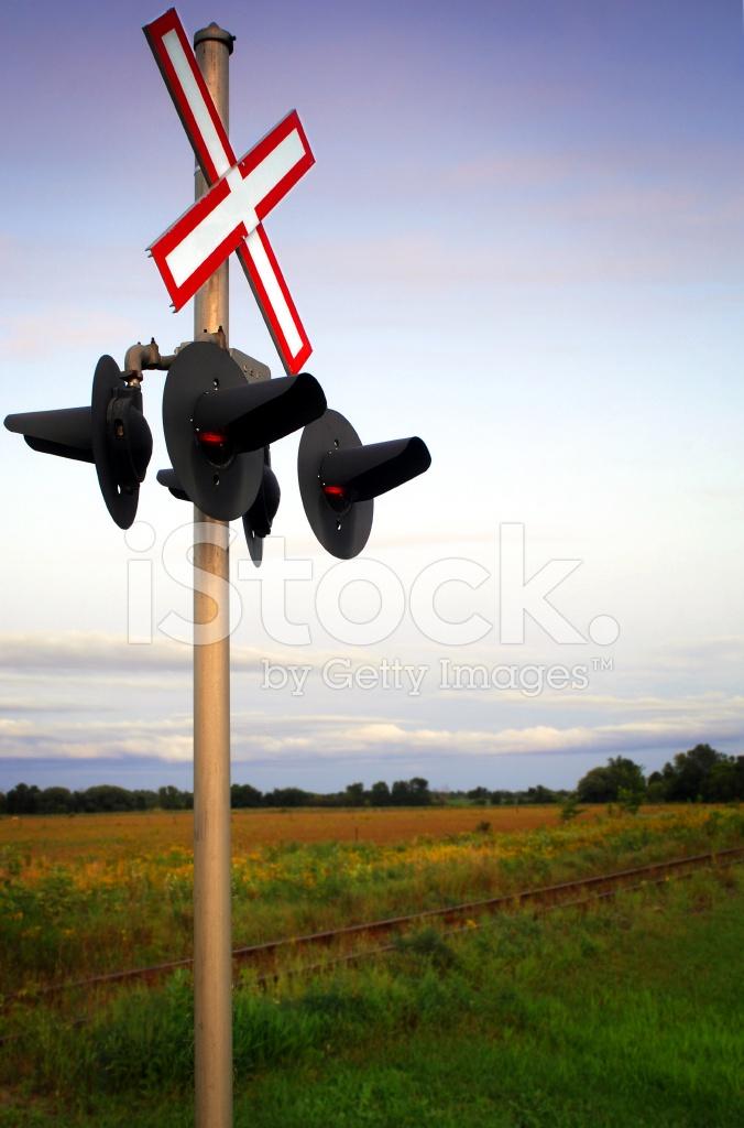 Railway Crossing Signals Stock Photos - FreeImages com