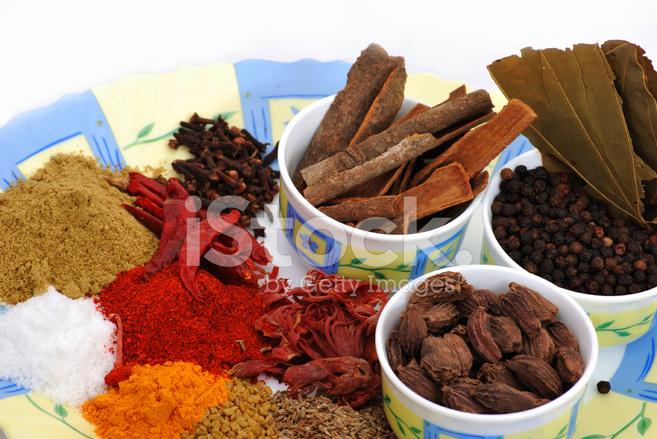 Indiska Kryddor Anvands I Matlagning Stockfoton Freeimages Com