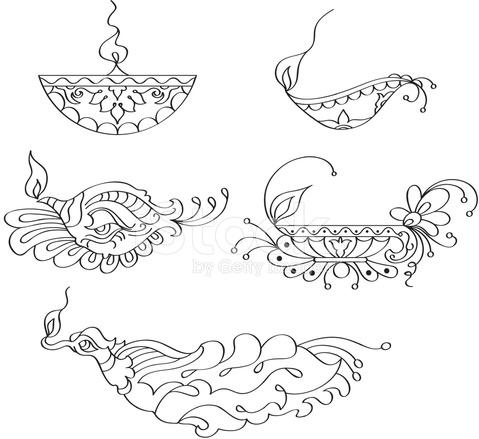 Ornamental Diya (oil Lamp) Stock Vector - FreeImages.com  Ornamental Diya...