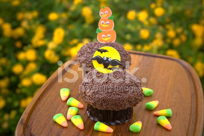 Candy Corn Schokolade Halloween Cupcakes Urlaub Kuchen Essen B