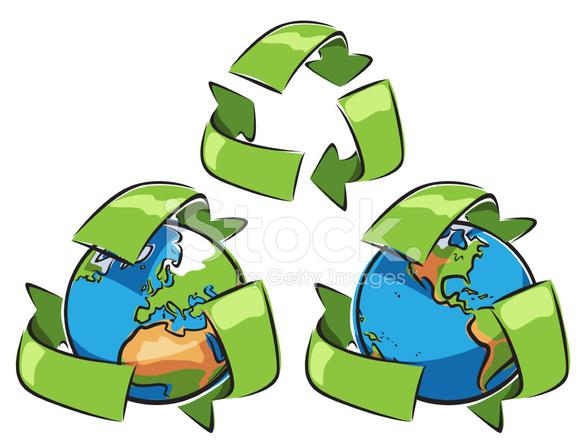 Recycle Schets Aarde Stock Vector Freeimages