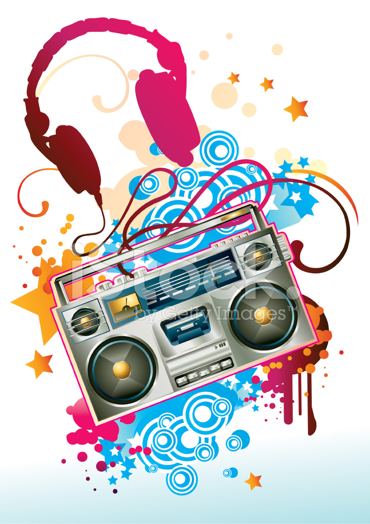 Funky Boom Box Stock Vector Freeimages Com