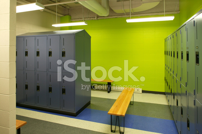 Empty green gym locker room stock photos freeimages