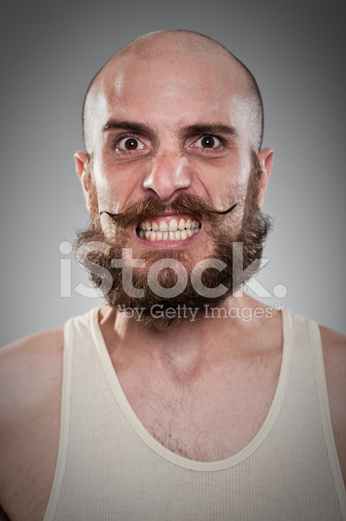Crazy Twisted Mustache Guy Stock Photos Freeimages Com