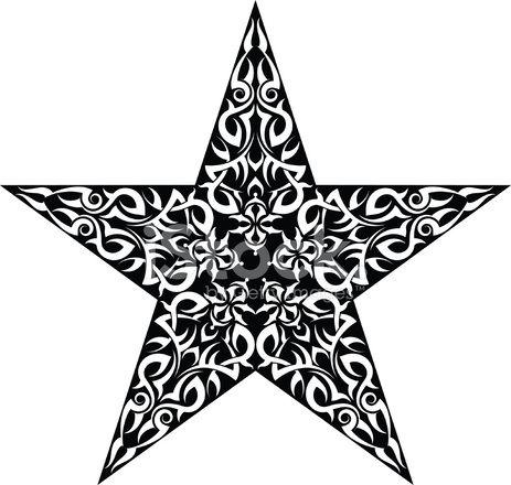 Tatuaż Gwiazda Stock Vector Freeimagescom