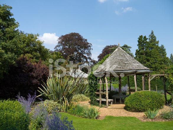 English Garden And Pergola