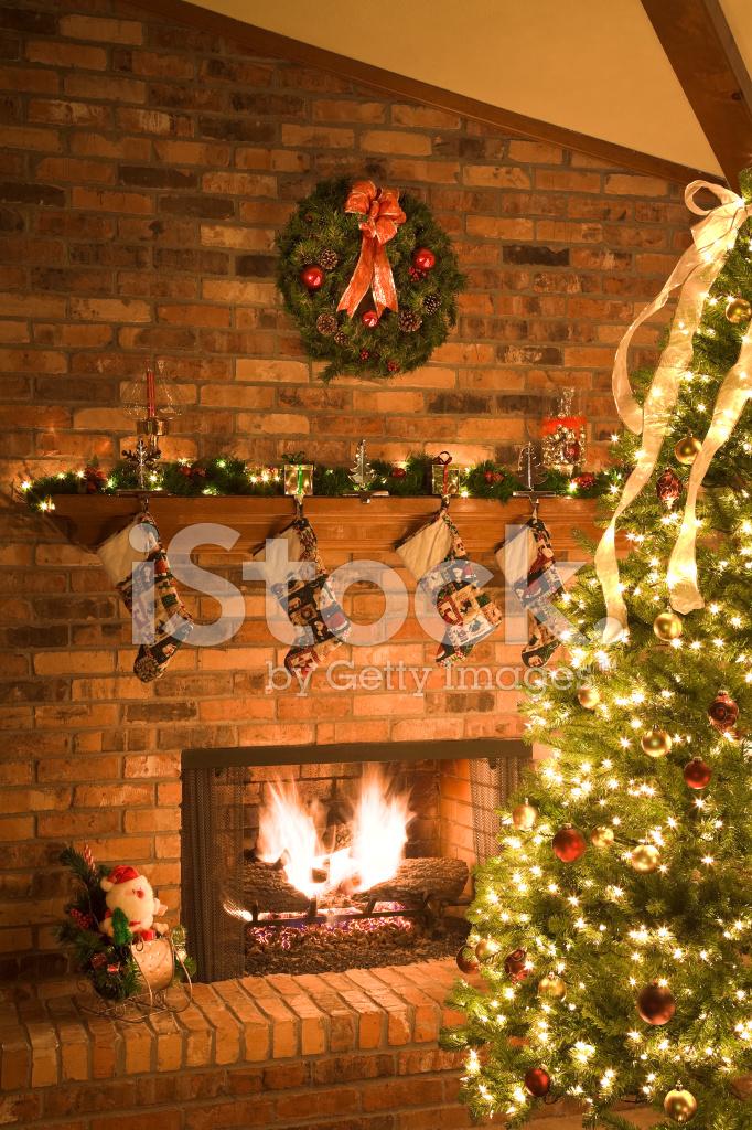 Weihnachten Kamin Szene Stockfotos - FreeImages.com