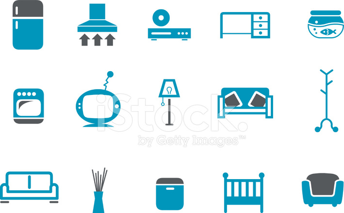 Furniture Icon Set Stock Vector Freeimages Com