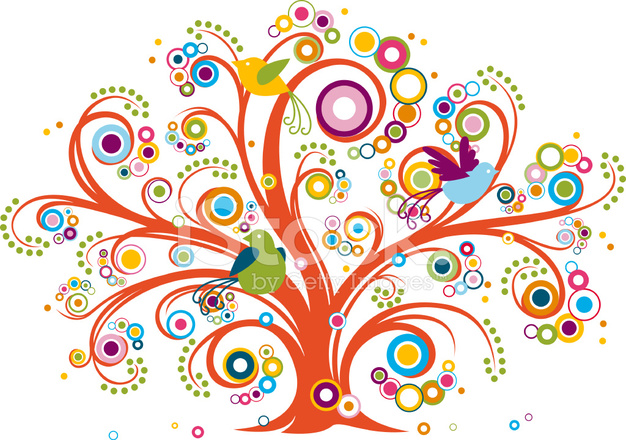 Whimsical Tree Stock Vector - FreeImages.com