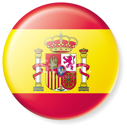 Satin Spanish Flag Button Stock Vector Freeimages Com