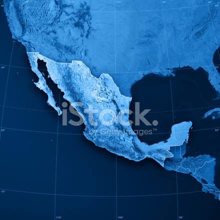 Mexico Topographic Map Stock Photos - FreeImages.com