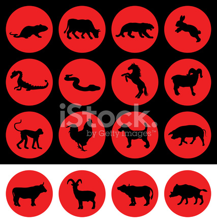 Chinese New Year Signs of The Zodiac Stock Vector - FreeImages.com