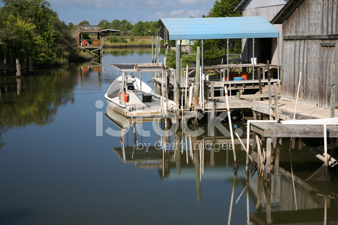 Fishing canal cedar key florida stock photos for Cedar key fl fishing