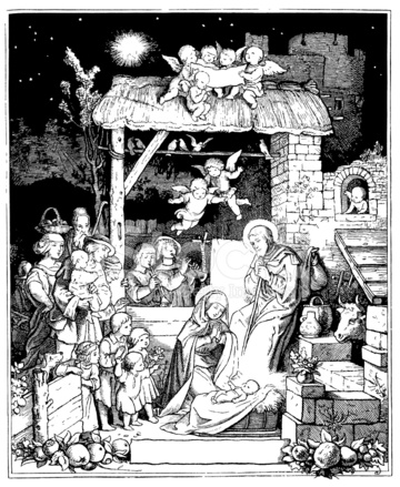 El Nacimiento DE Jesús Stock Vector - FreeImages.com
