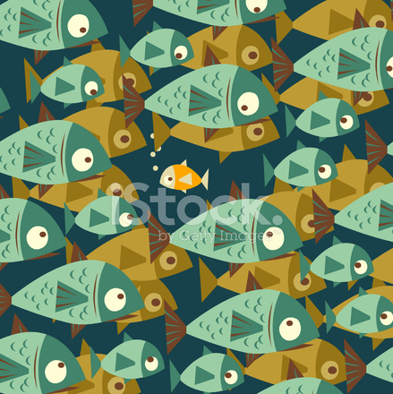 Small fish in big pond stock vector for Big fish in a small pond game