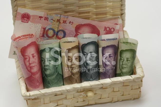 Renminbi Rmb Chinese Currency Money Notes Stock Photos
