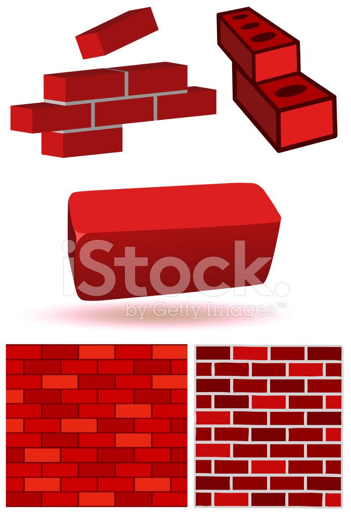 Brick And Wall Vector Illustration Set