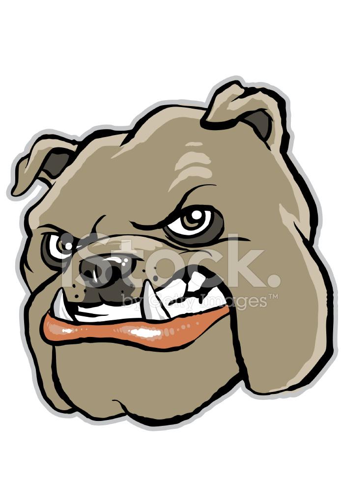 Bulldog Cartoon Face Stock Vector Freeimages Com