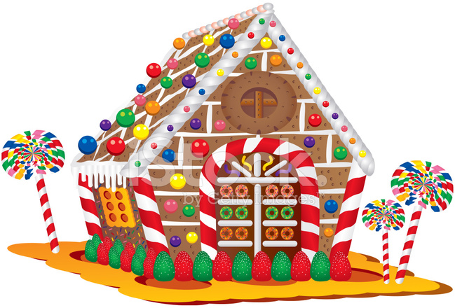 Christmas Candy House Stock Vector