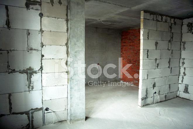 Stanza Di Una Casa Di Nuova Costruzione Appartamento Fotografie