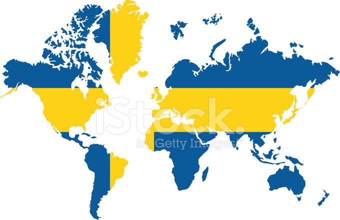 Weltkarte Schweden Stockfotos - FreeImages.com