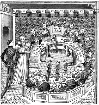 Koning Arthur Ronde Tafel.Koning Arthur En De Ridders Van De Ronde Tafel Stock Vector