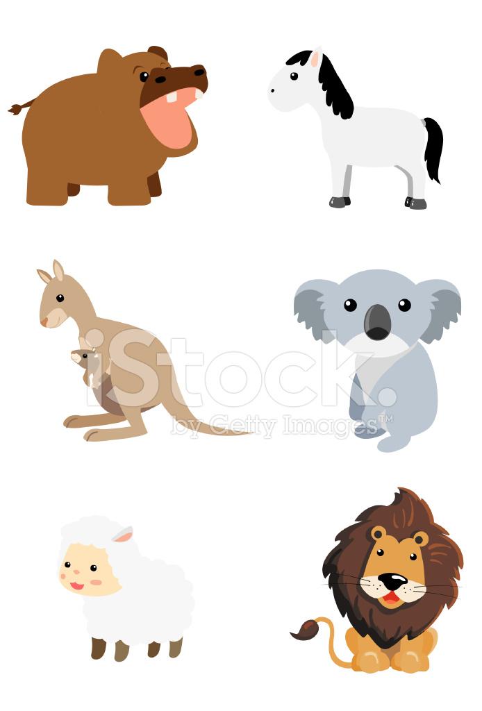 Animal cartoon mammal set 4 stock photos freeimages com