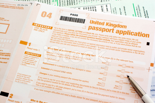 Uk Passport Application Form Stock Photos Freeimages