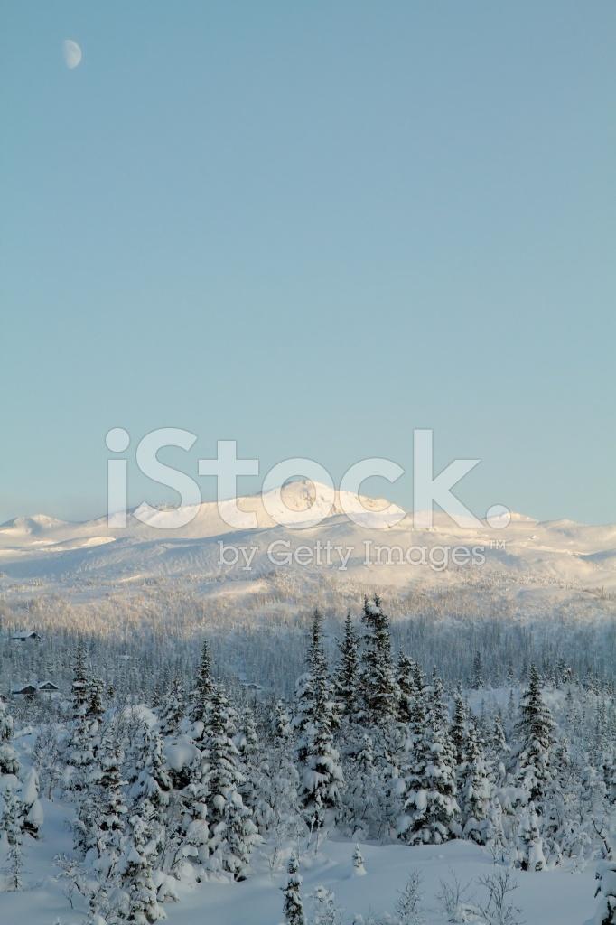 winter snow mountain moon - photo #23