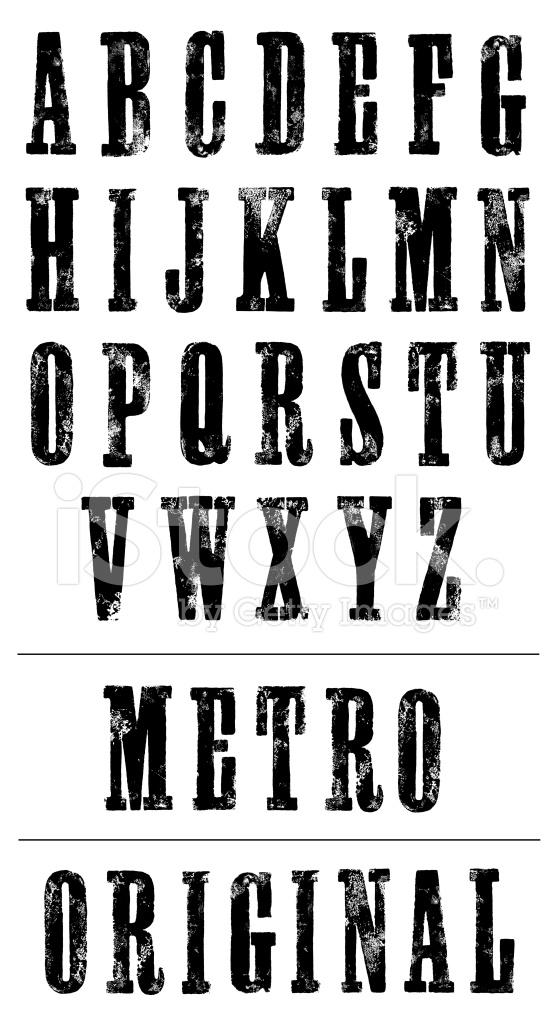 letterpress poster font serif hand printed alphabet. Black Bedroom Furniture Sets. Home Design Ideas