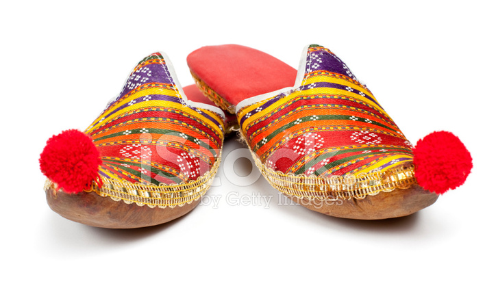 9dd39e66097c Premium Stock Photo of Traditional Turkish Shoes on White Background