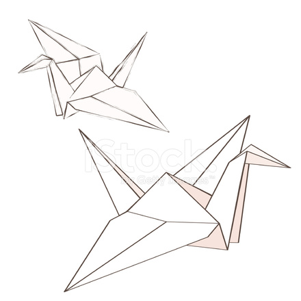 Origami Crane Stock Vector Freeimages