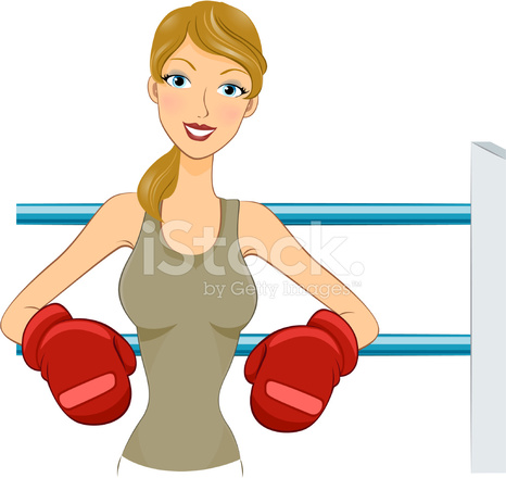 girl in boxing gloves stock vector - freeimages.com  freeimages.com