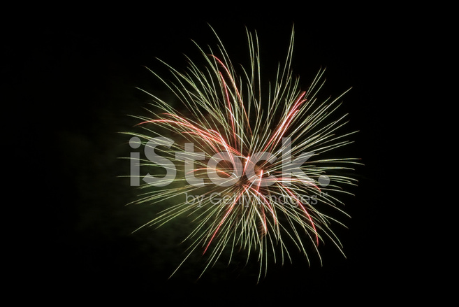 Red Fireworks Free Stock Photo: Green And Red Fireworks IN The Dark Stock Photos