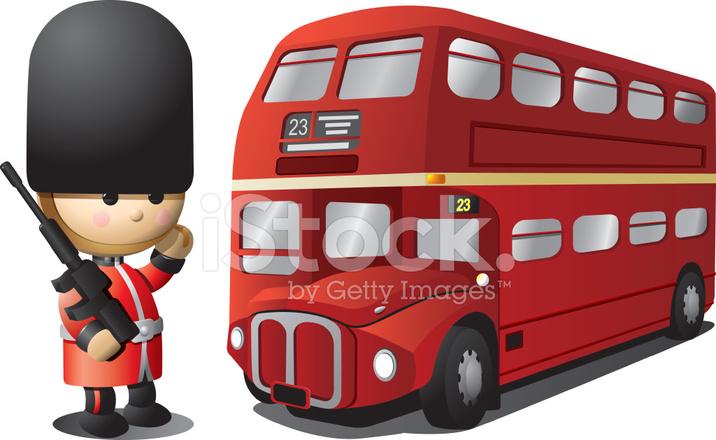 Royal guard anglais et bus de londres stock vector - Image de bus anglais ...