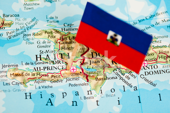 Map and Flag of Haiti Stock Photos FreeImagescom
