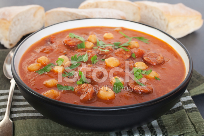 soppa med chorizo
