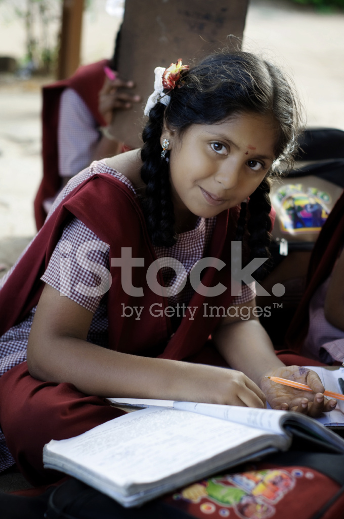 Indian Village School Girl