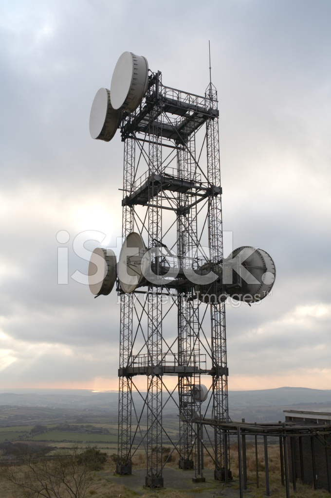 Microwave Data Transmission Antenna Drums Communications