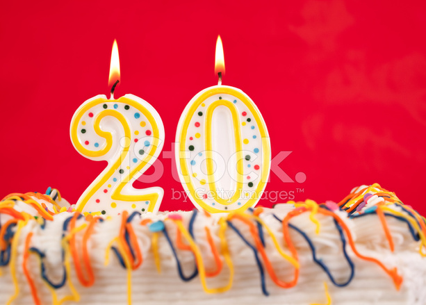 138 number twenty birthday candle stock images are available royalty-free.