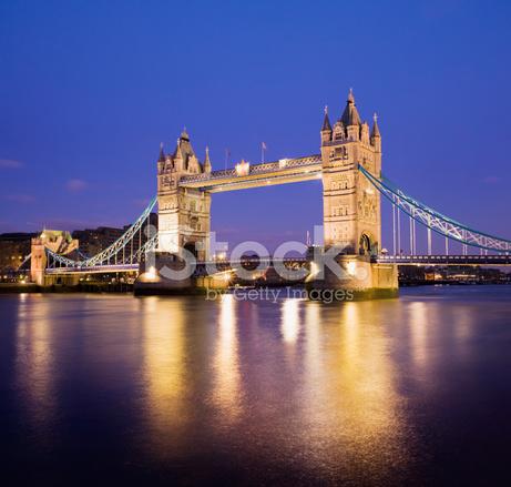 tower bridge and the city skyline london uk stock photos