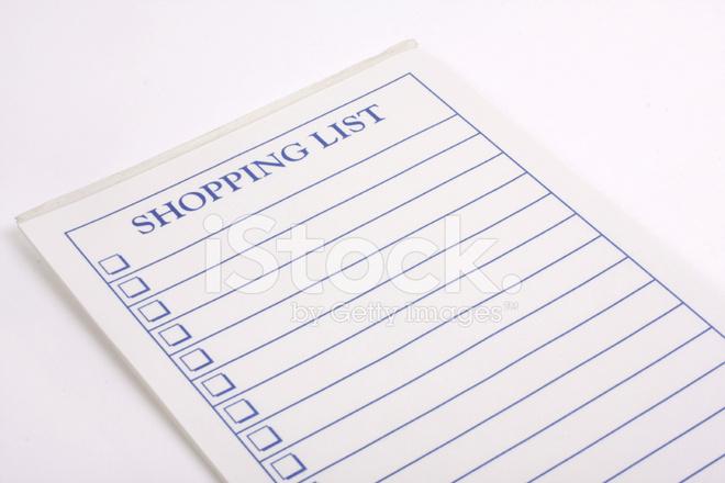 boodschappenlijst stockfoto s freeimages com