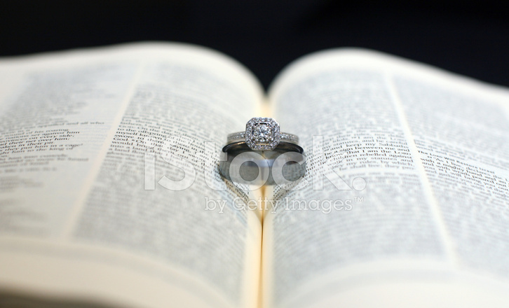 wedding rings on holy bible stock photos freeimages com