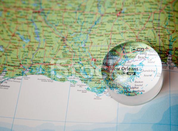 Karta 214 Ver New Orleans Omr 229 Det Stockfoton Freeimages Com
