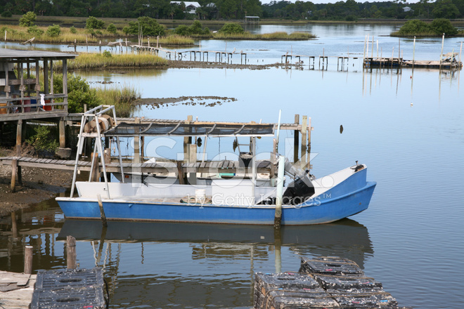 Fishing boat cedar key florida stock photos for Cedar key fl fishing